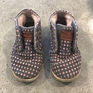 Toms toddler boot shoe grey polka dots